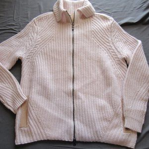 Bogner Wool / Cashmere Full Zip Knit Sweater Sz 6